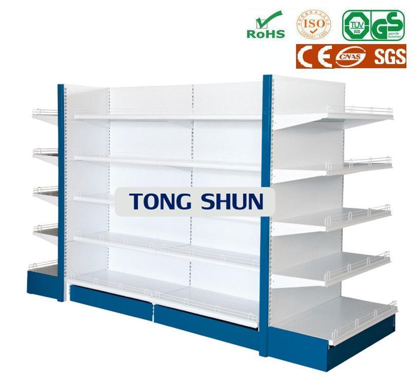 Double Sided Supermarket Shelf Gondola Shelf Shelving with End Cap