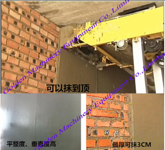 Chinese Auto Cement Block Wall Plaster Rendering Machine