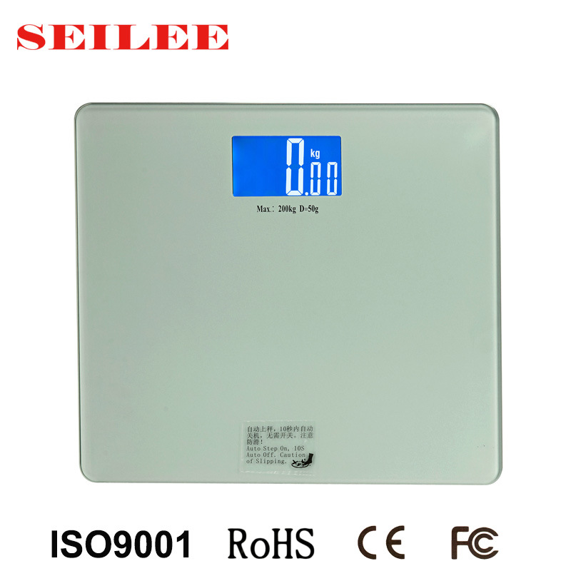 Large Platform (345X315mm) 8mm Tempered Glass Digital Personal Health Body Scale