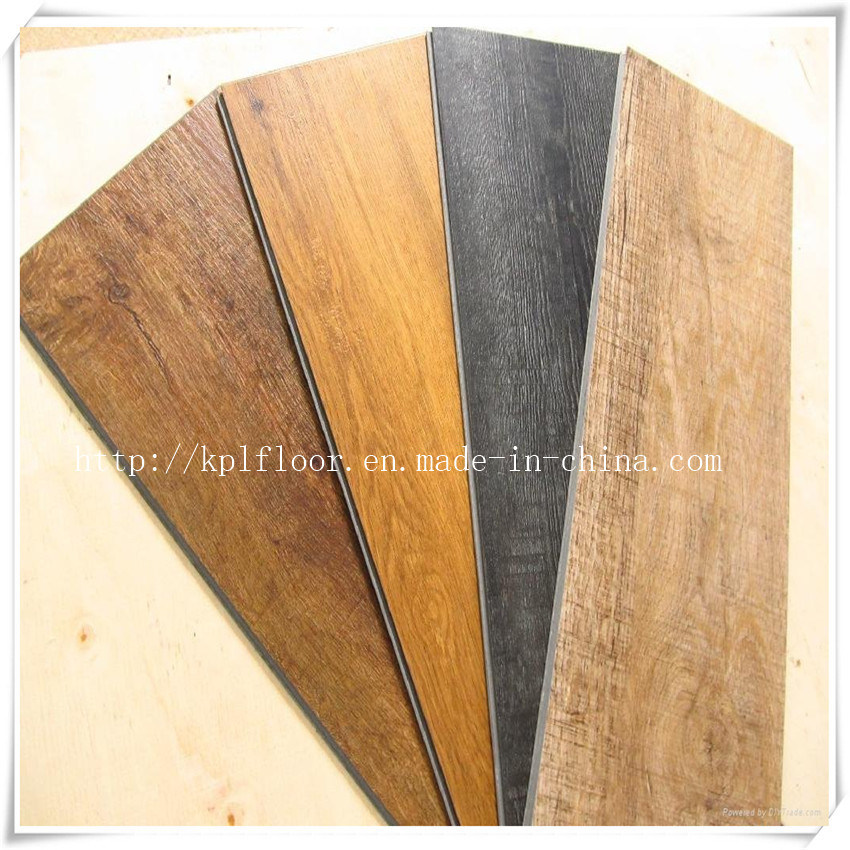 Wood Grain Click Lock PVC Plastic Floor Tiles