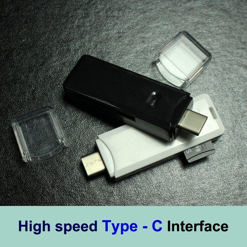 Type-C SD SDHC Sdxc Card Reader High Speed Microsd Microsdhc Microsdxc Type C Card Reader