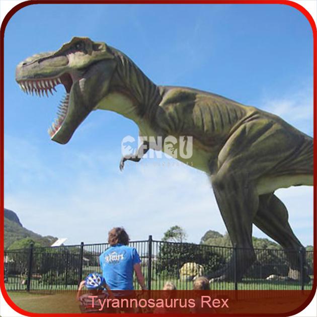 Outdoor Playground Equipment Animatronic T Rex Dinosaur