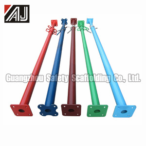 Adjustable Heavy Duty Steel Prop Scaffolding (Shoring Prop) Supporting Heavy Concrete Wall, Slab Beams