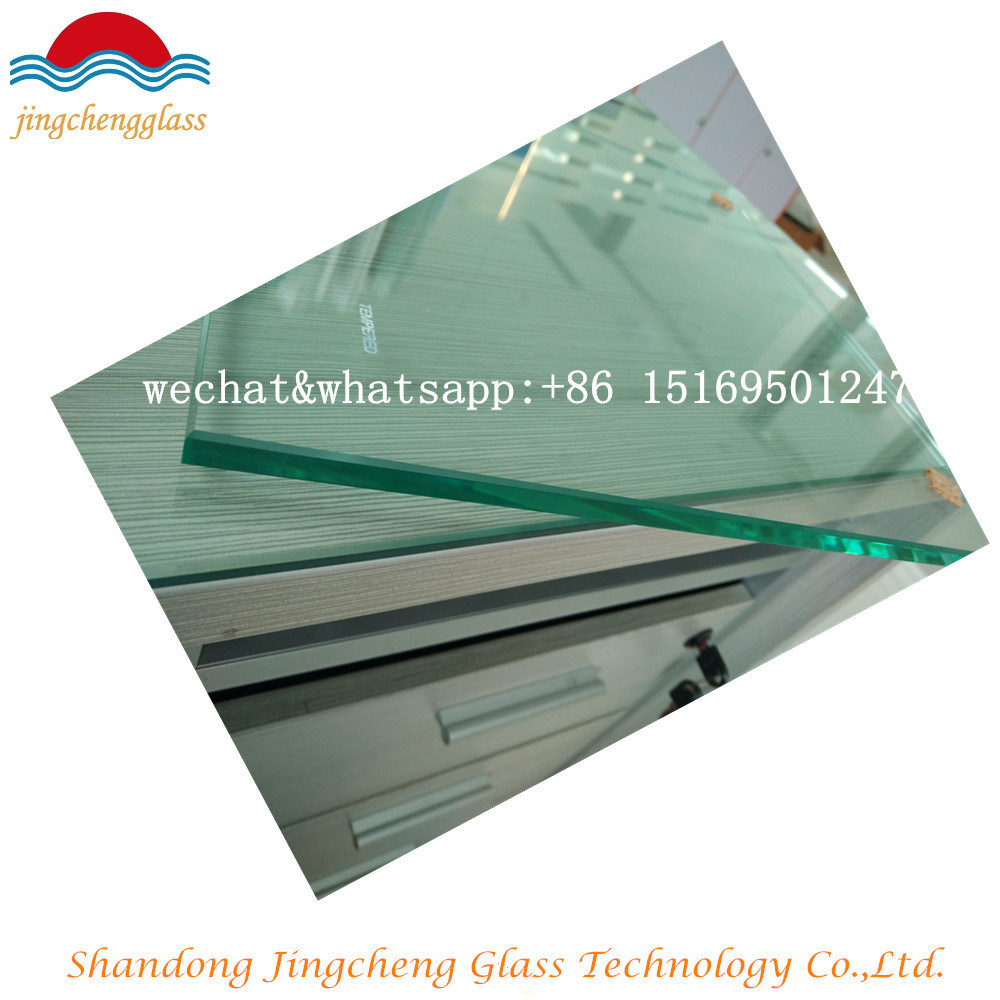 Clear Safety Building Tempered Glass for Bathroom Door