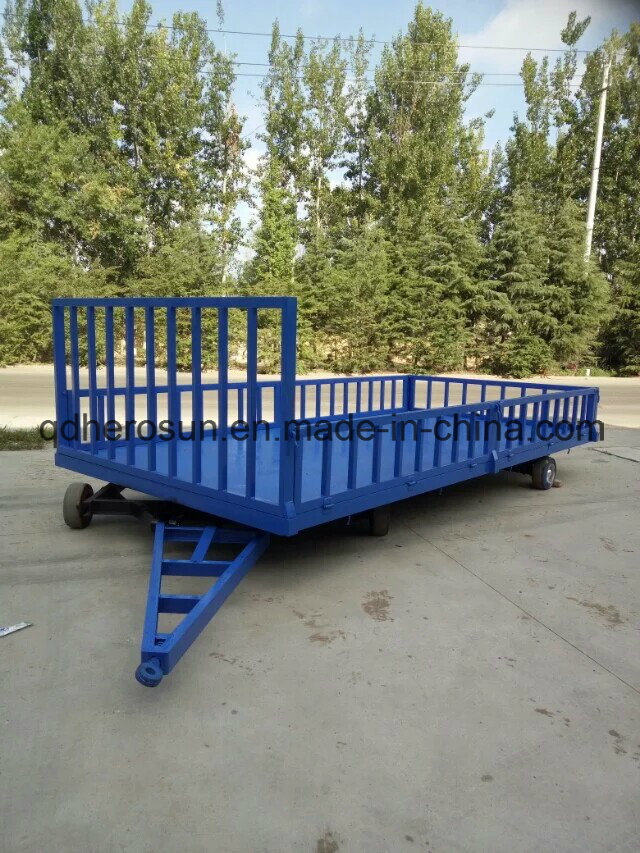 5 Tons Platform Farm Trailer with High Railing