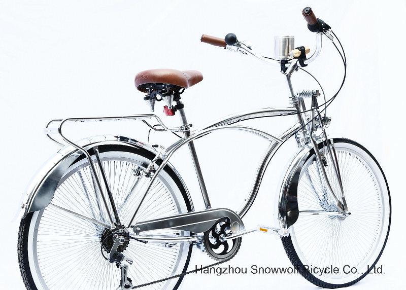 New Chrome 7 Speed Hi-Ten Low Rider Beach Cruiser Bicycle (ARS-2680S)