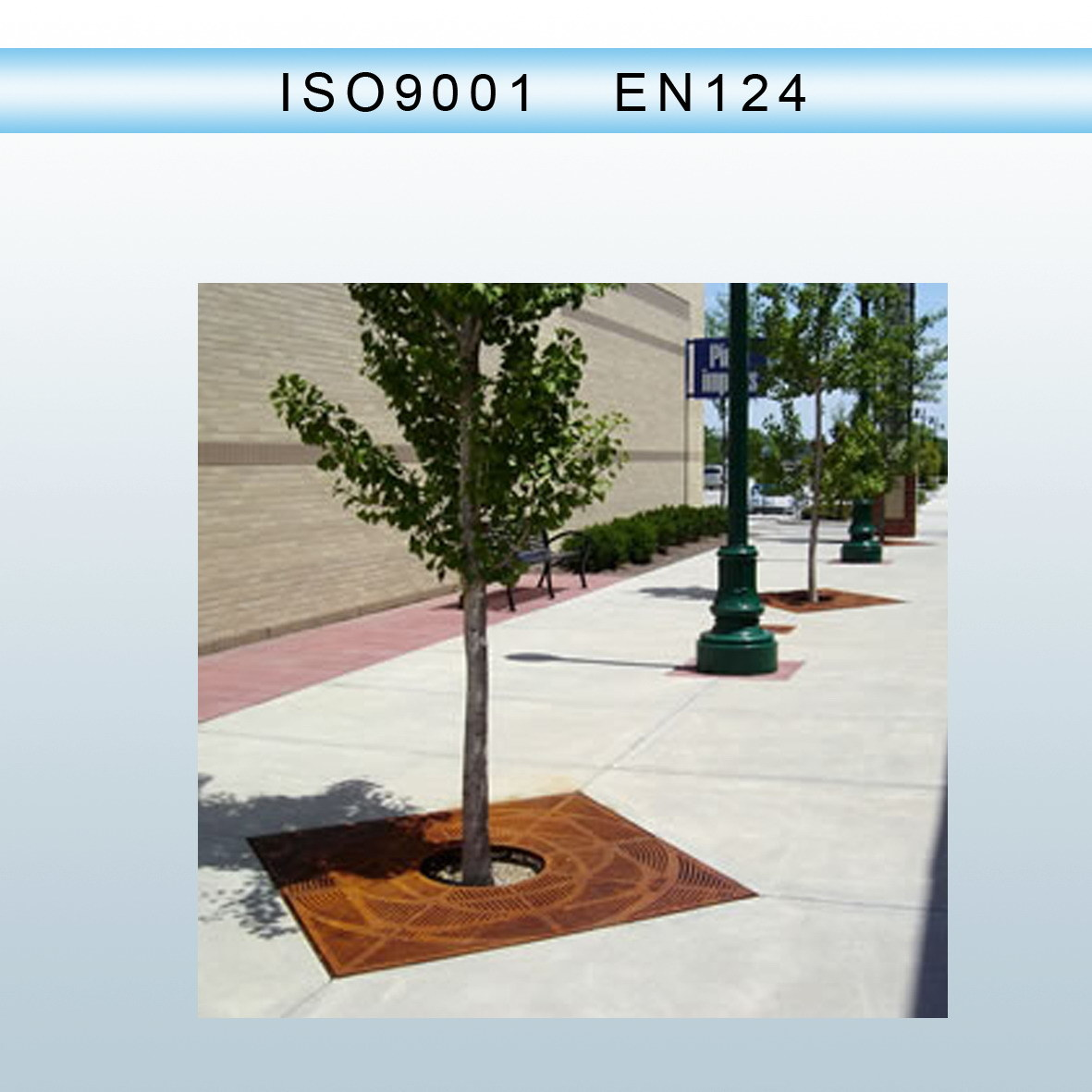 En124 Ductile Iron Casting Tree Gratings Round/Square