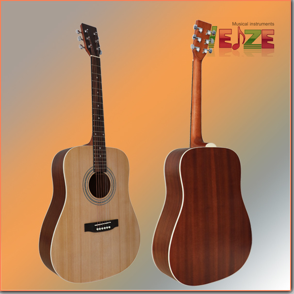Spruce Sapele Plywood Acoustic Guitar