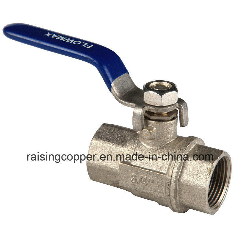 Nickle Plating Brass Ball Valve with Steel Handle