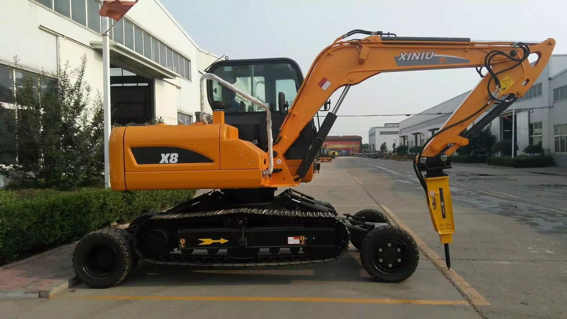 Xiniu X8 Wheel-Crawler Excavator