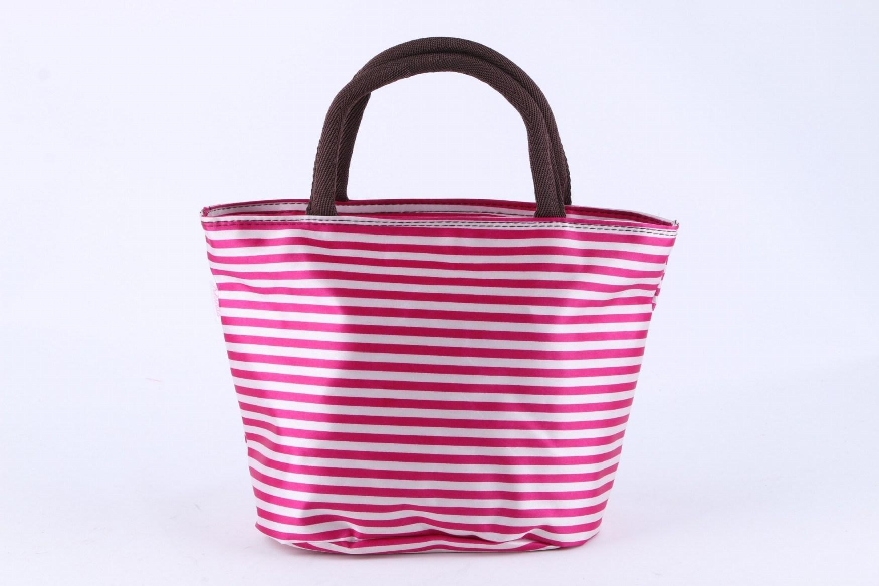 Fashion Promotional Lunch Bag Fashion Design Handbag Stripe