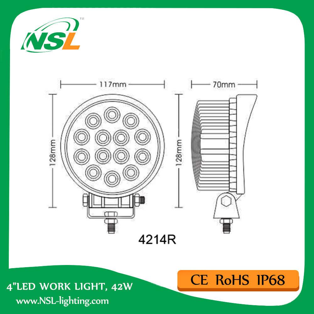 Cheap LED Work Light 27W 48W 42W 4 Inch Forest Machine Working
