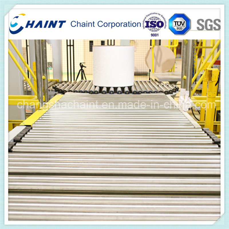 Non Woven Fabric Roll Handling and Wrapping System After Textile Machine