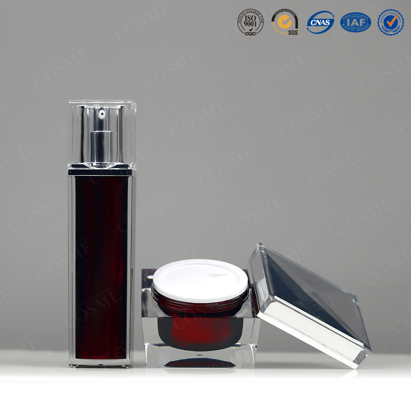 15ml 30ml 50ml 100ml Plastic Square Cosmetic Bottle