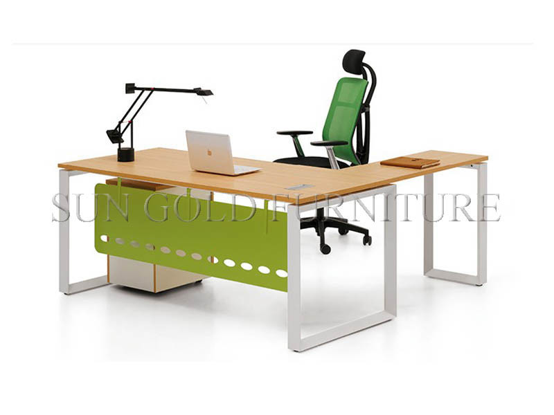 Factory Custom Modern Executive Office Desk Table Sun Gold Furniture (SZ-OD026)