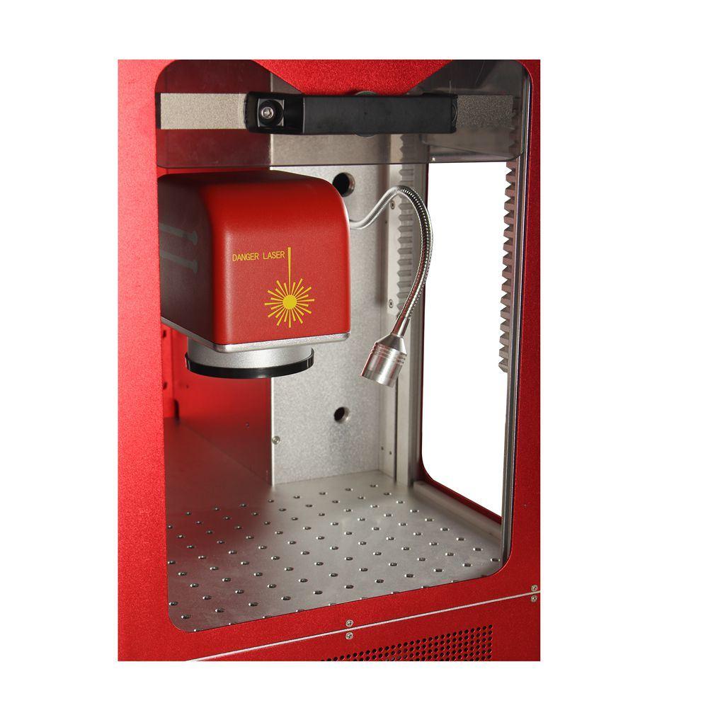 30W Fiber Laser Marking Machine with Red Cabint