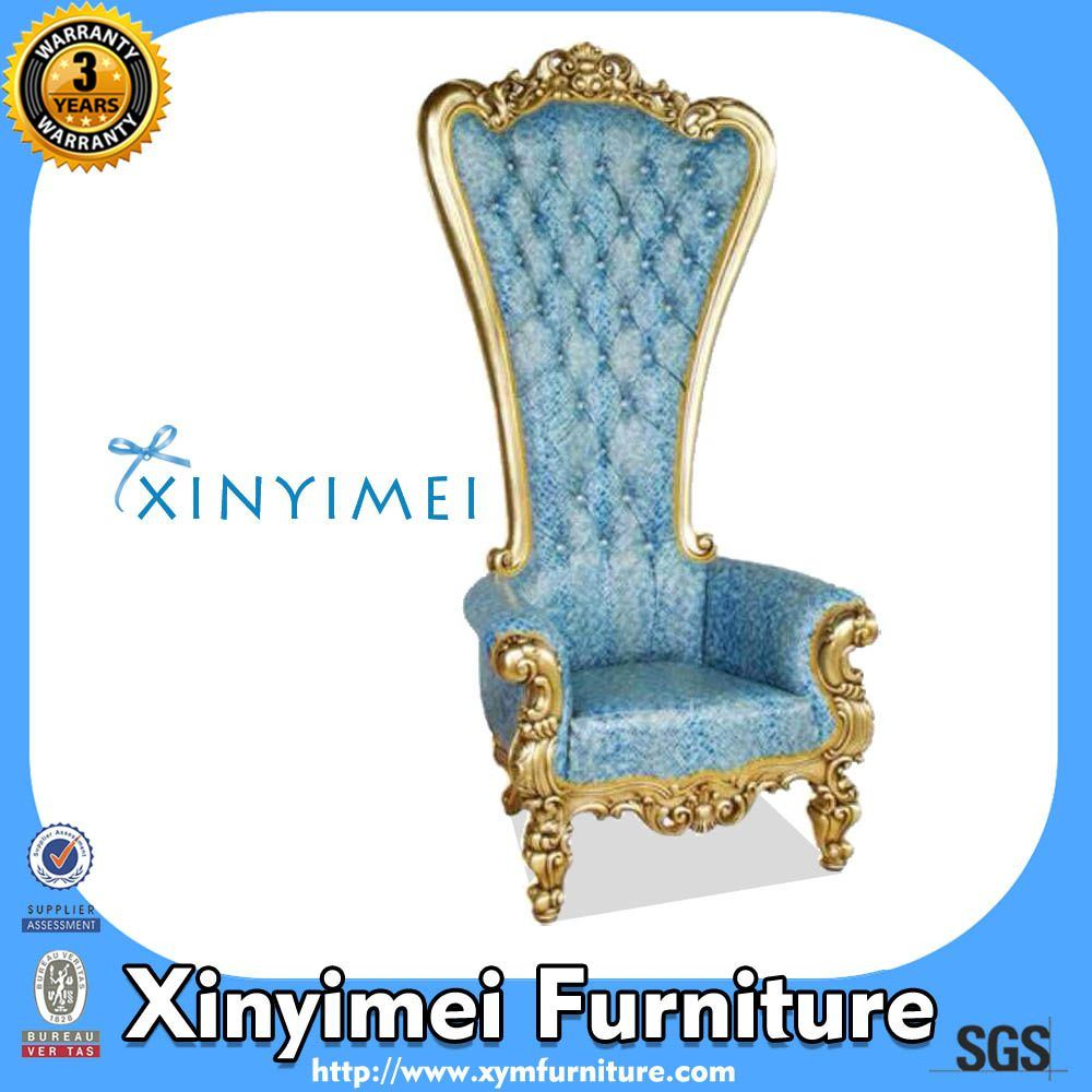 White Solid Wood High Back Throne Chair for Wedding (XYM-H108)