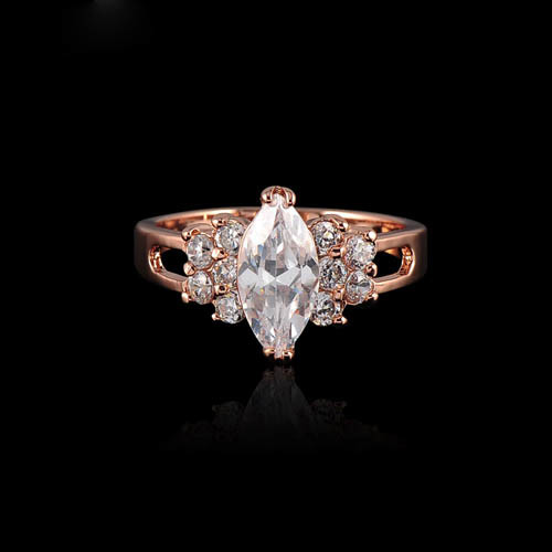 Fashion Copper and Zircon Women Ring /Engagement Rings/ Wedding Jewelry (RI-HGC10)