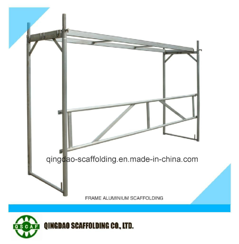 European Certification Aluminium Ladder/H and Door Frame Scaffolding