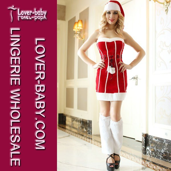Adult and Women Christmas Santa Claus Costumes (L7012)