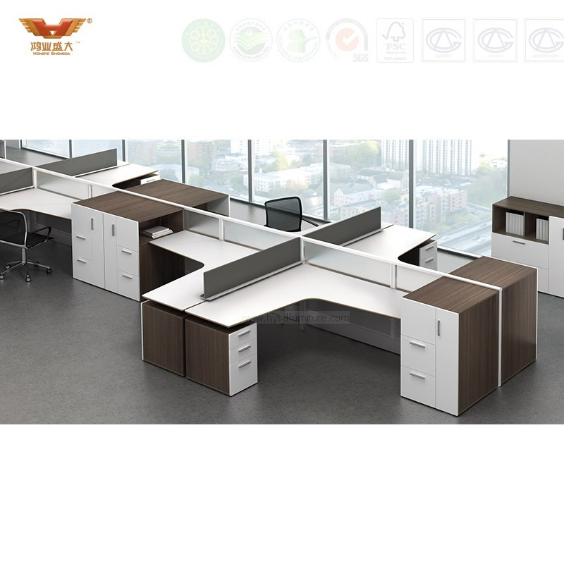 Fsc Forest Certified Office Furniture Modern Design Call Center Workstation Office Cubicle Office Partition Office Furniture (HY-246)