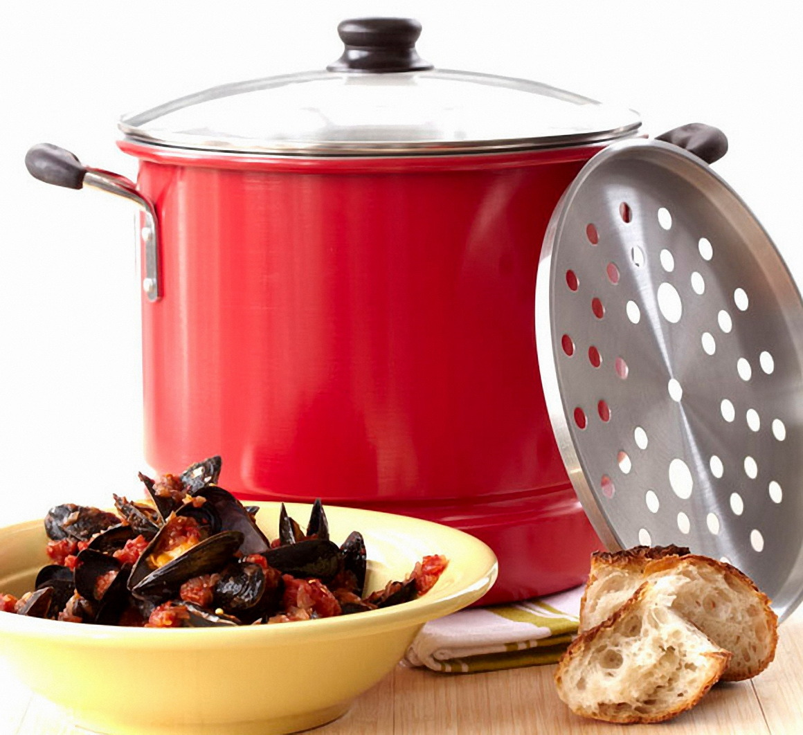 Cookware / Alu. Stock Pot with Steamer (MY32008-MY33032)