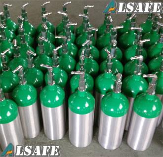 0.5L to 50L Aluminum Medical Oxygen Tanks Pressure