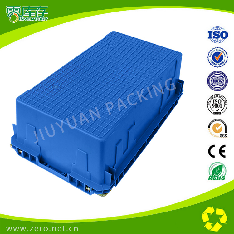 HDPE New Material Industrial/Light Industrial Plastic Crates with Iron Lug