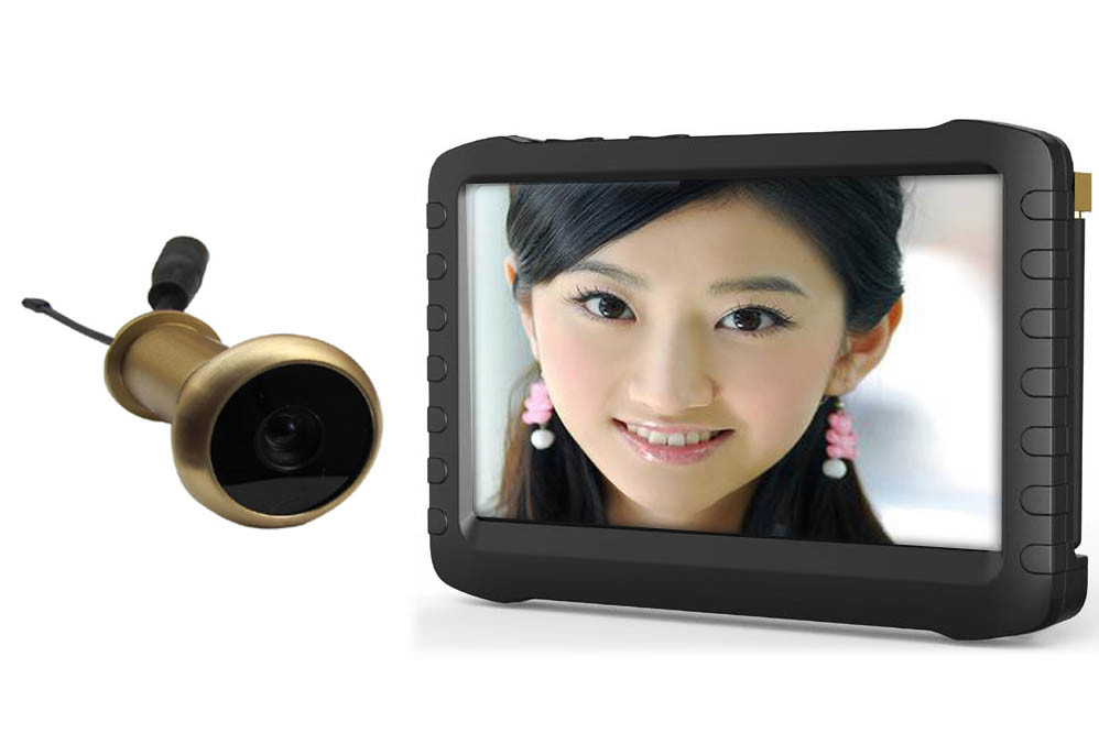 "5.8g Wireless Door Peephole Viewer 5"" HD Screen 90 Deg"