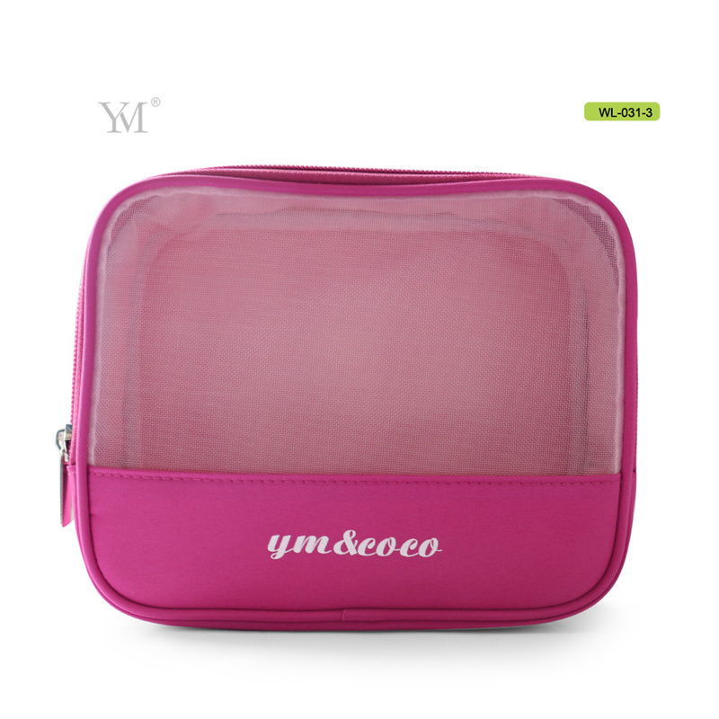 Made in China Durable Mesh Toiletry Travel Cosmetic Bag