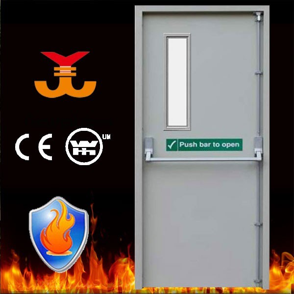 90mins Steel Fire Rating Door with Push Bar