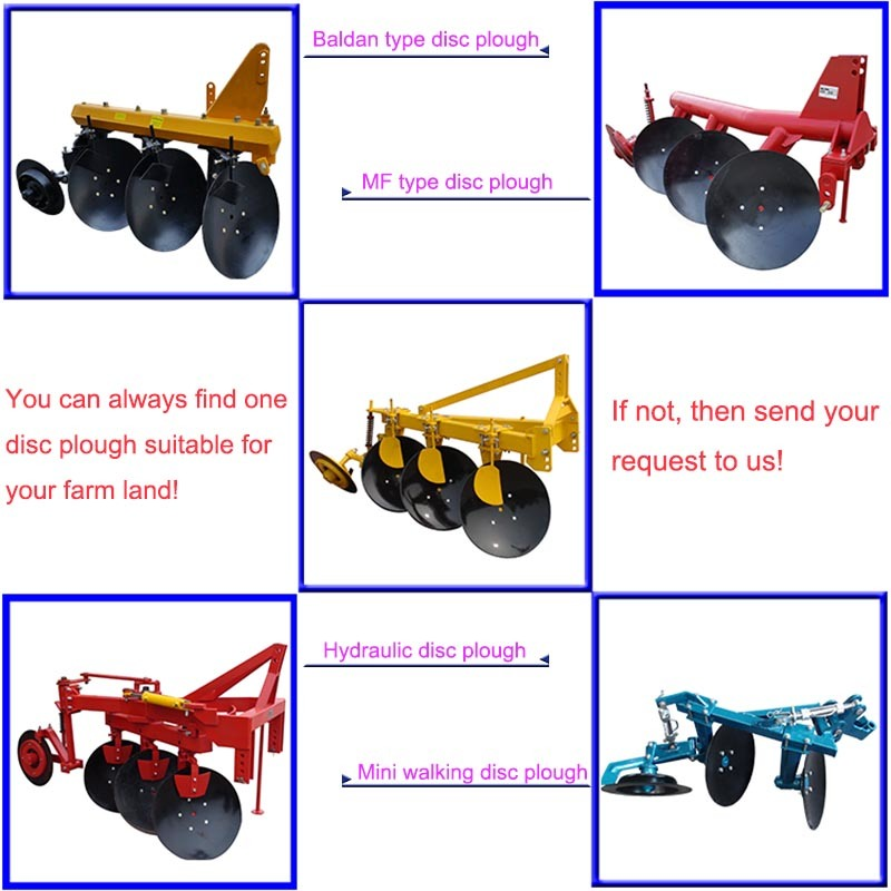 Disc Plough with 3 Discs Tube Disc Plow Farm Implements