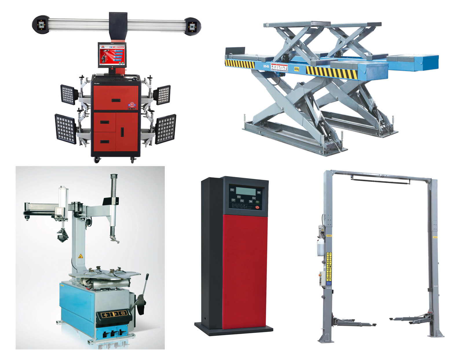 Tire Changer / Two (2) Post Lift/Car Lift / Wheel Balancer / Wheel Alignment (Aligner) /Nitrogen Inflator
