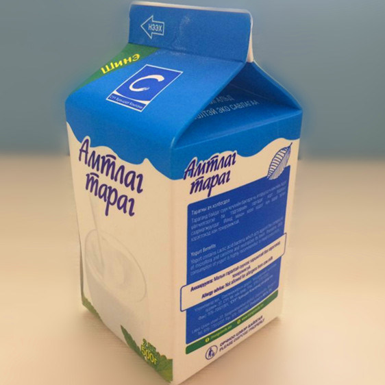 500ml 3 Layer Pasturied Fresh Milk Short Shelf-Life Paper Aseptic Box and Carton