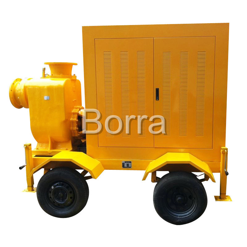 Trash Centrifugal Diesel Water Pump Trailer