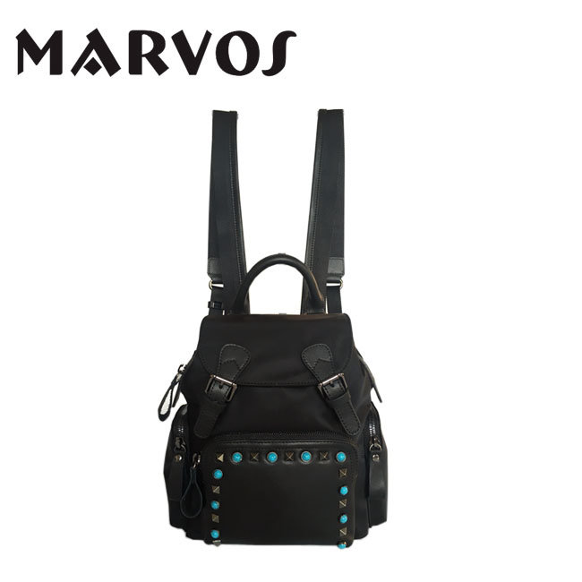 2016 New Fabrice Backpack /Leather with Fabric Backpack (BS1607-72)
