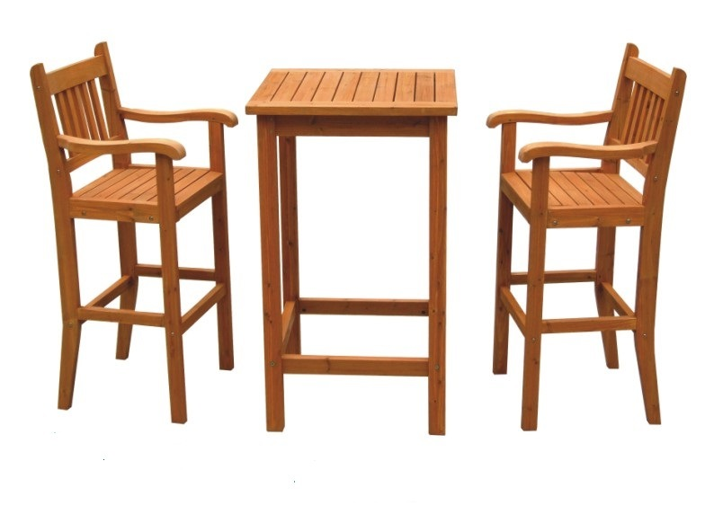Hot Selling Outdoor Wooden Dining Set for Garden with Four Chairs