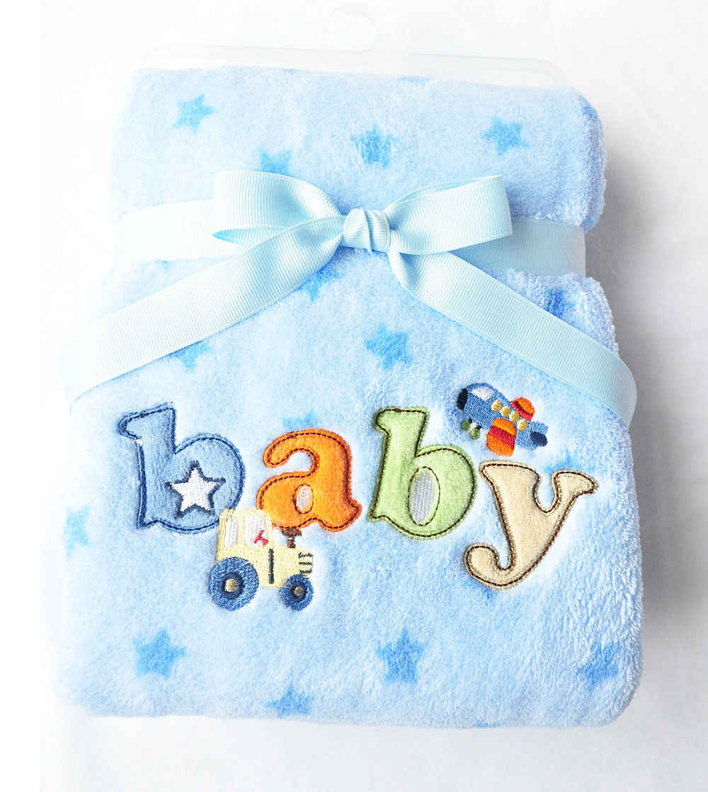 100%Polyester, Polar &Coral Fleece Baby Blanket