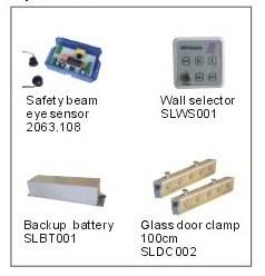 Heavy Duty Automatic Sliding Door Opener, Sliding Door Operator, Automatic Sliding Door Aluminum Frame Glass Door Operator, 2X200kgs