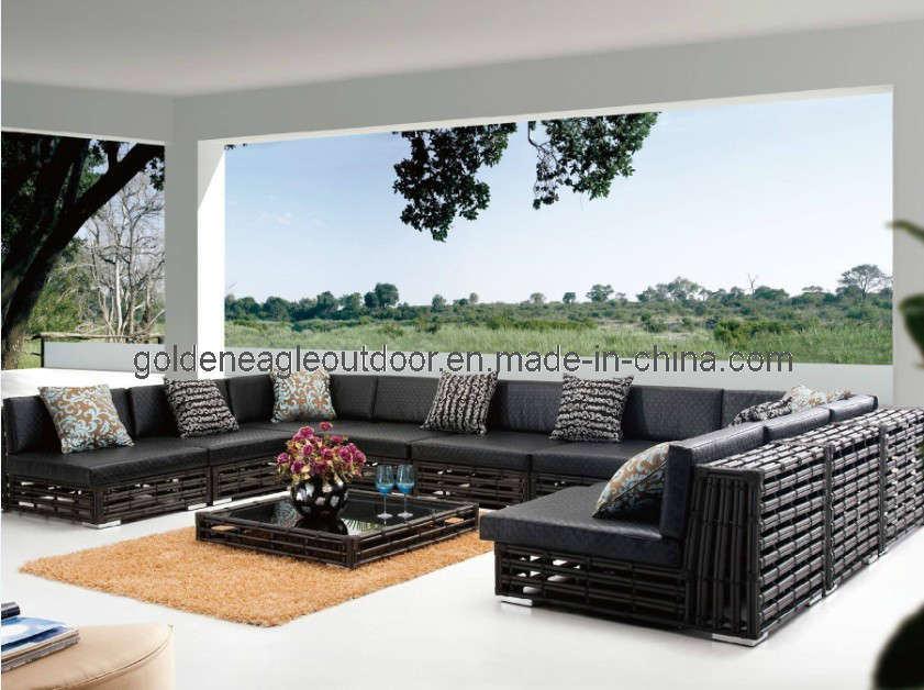 2012 Outdoor Garden Furniture Sectional Rattan Sofa Set