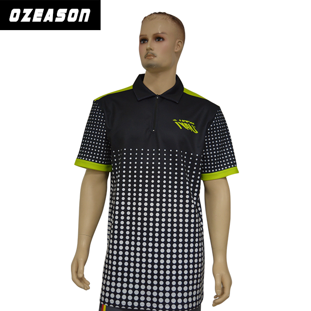 Customized Sublimation Printed Men′s Sport Polo T Shirts (P014)