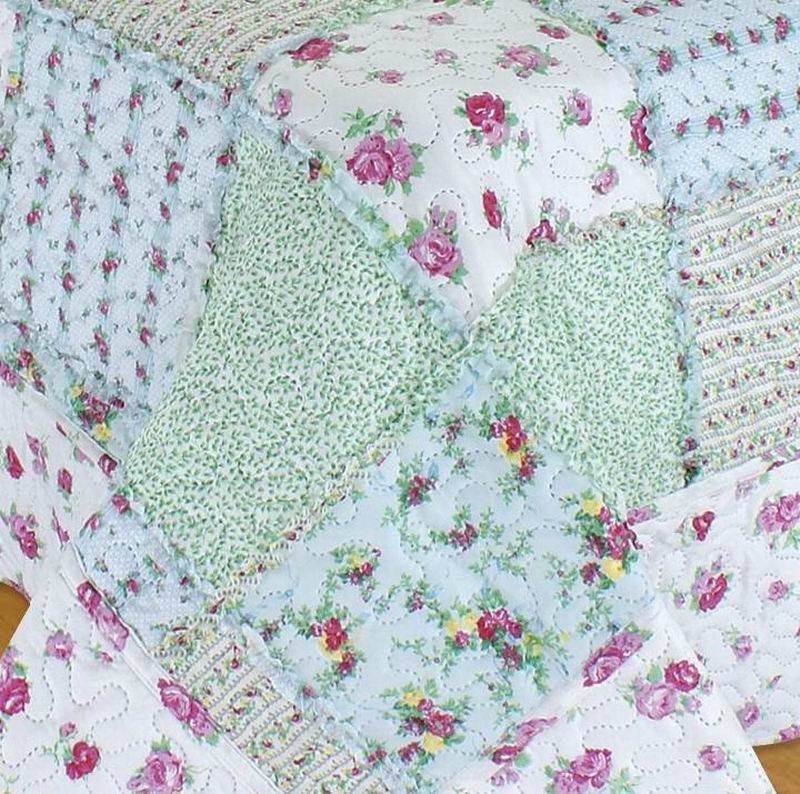 Printed Ultrasonic 100% Microfiber Quilt/Bedding Set with Ruffles