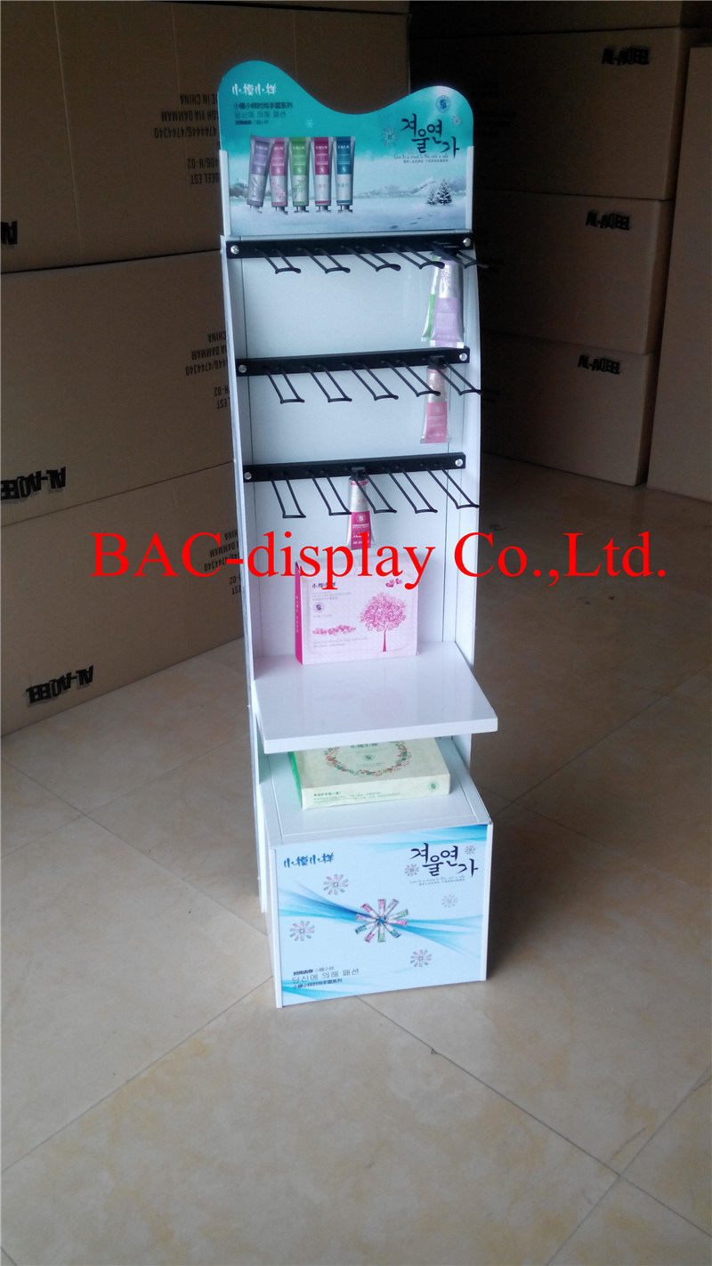 New Design Skin Care Products Metal Stand Perfume Display Shelf