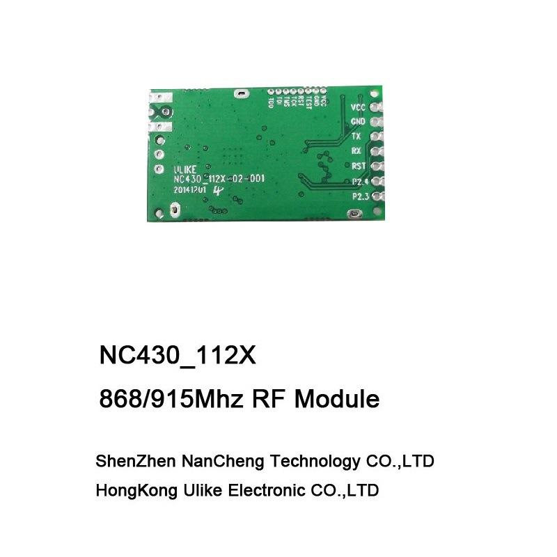 Cc1120 + Msp430 169MHz 433MHz 868MHz 915MHz Narrow Band Wireless Transceiver Module (NC430_112X) RF Module
