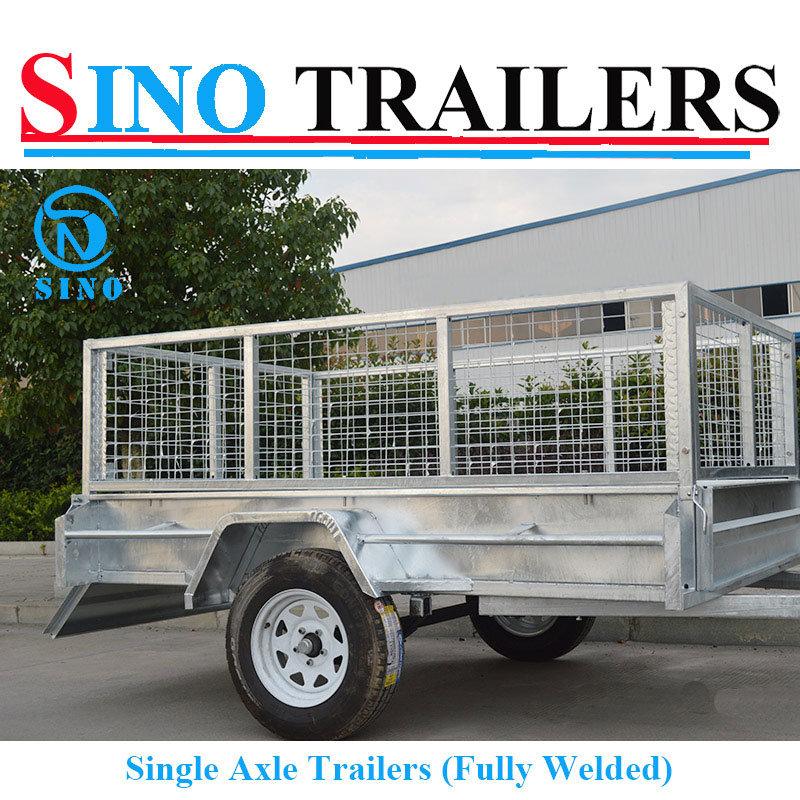 Flat Steel Fully Welded Single Cage Trailers