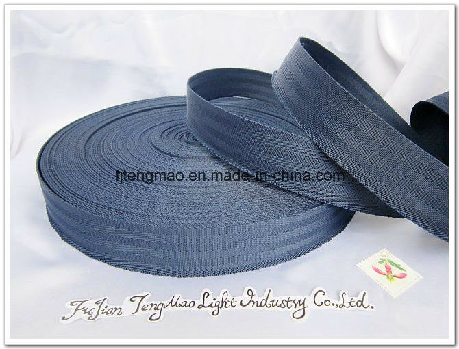 "1"" Black Nylon Webbing for Bags"