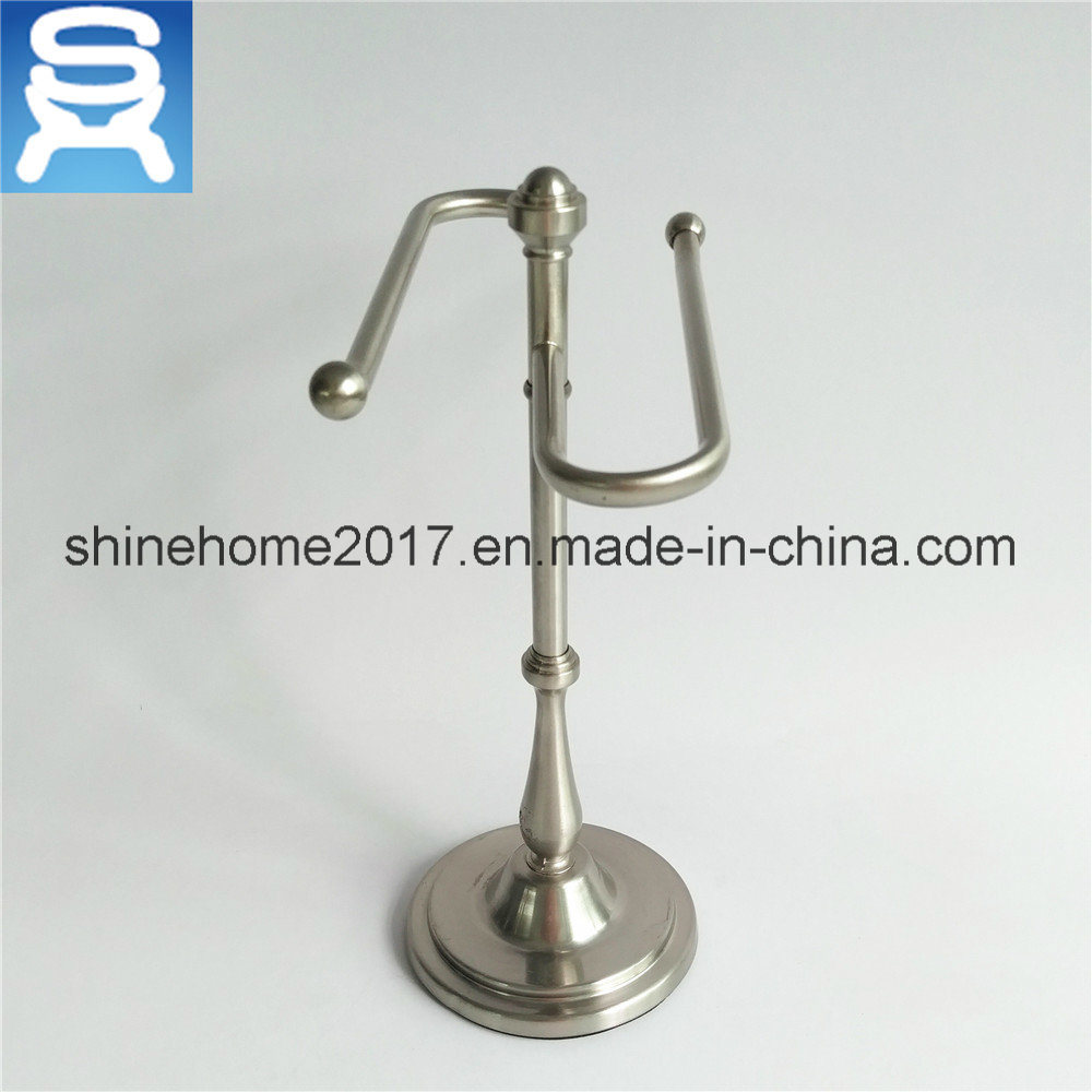 Satin Nikel Electroplated Home and Bath Paper Towel Bar and Holder