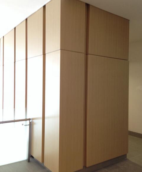 Wood Grain Colour Decorative Aluminum Curtain Wall Panel for Interior Decoration