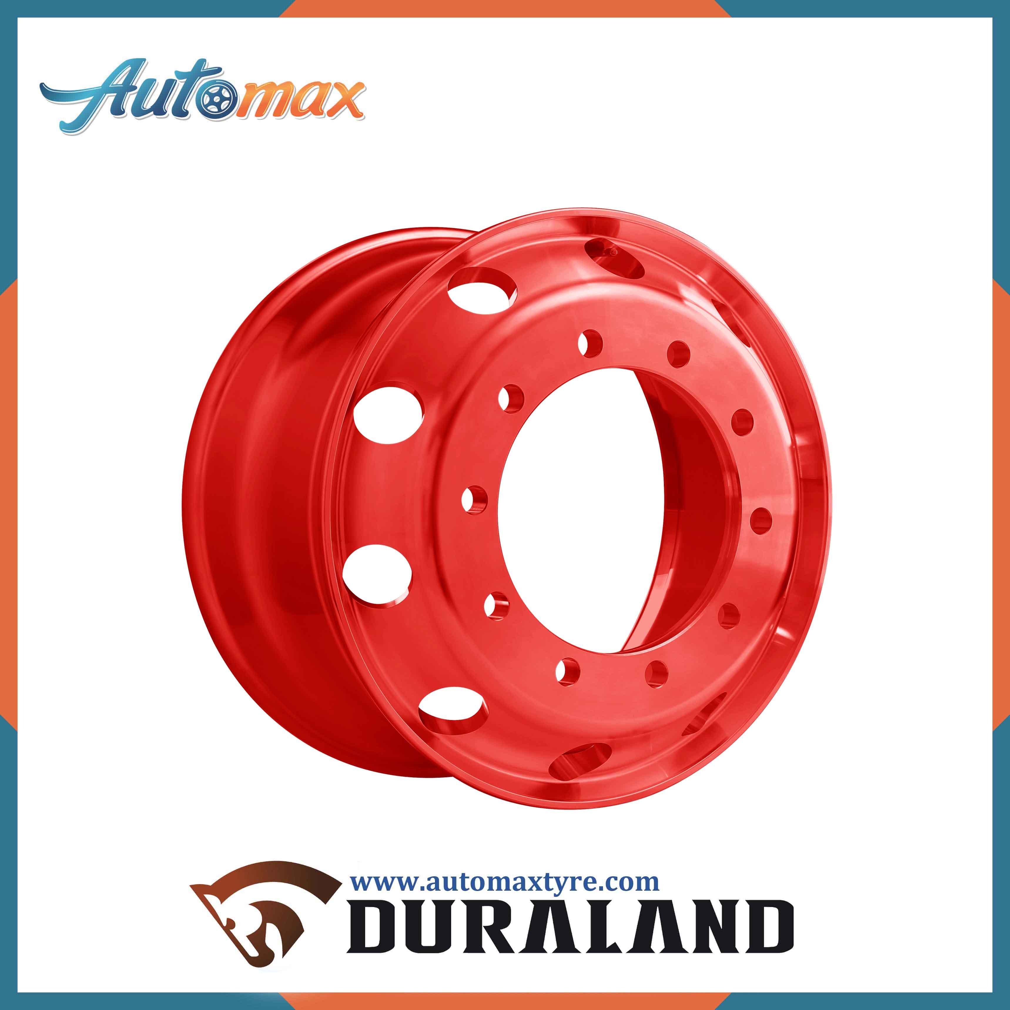 Automax Tubeless Steel Wheel Rim (22.5X14.00, 22.5X16.00, 22.5X20.00)