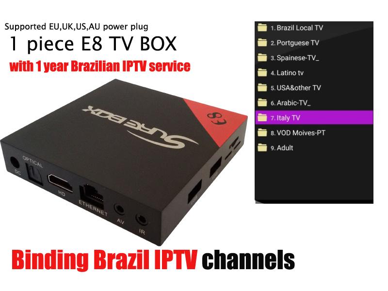 IPTV Box Brazil IPTV 300+ Channels Quad Core Amlgoic S905X with Free IPTV Better Than Mxq PRO